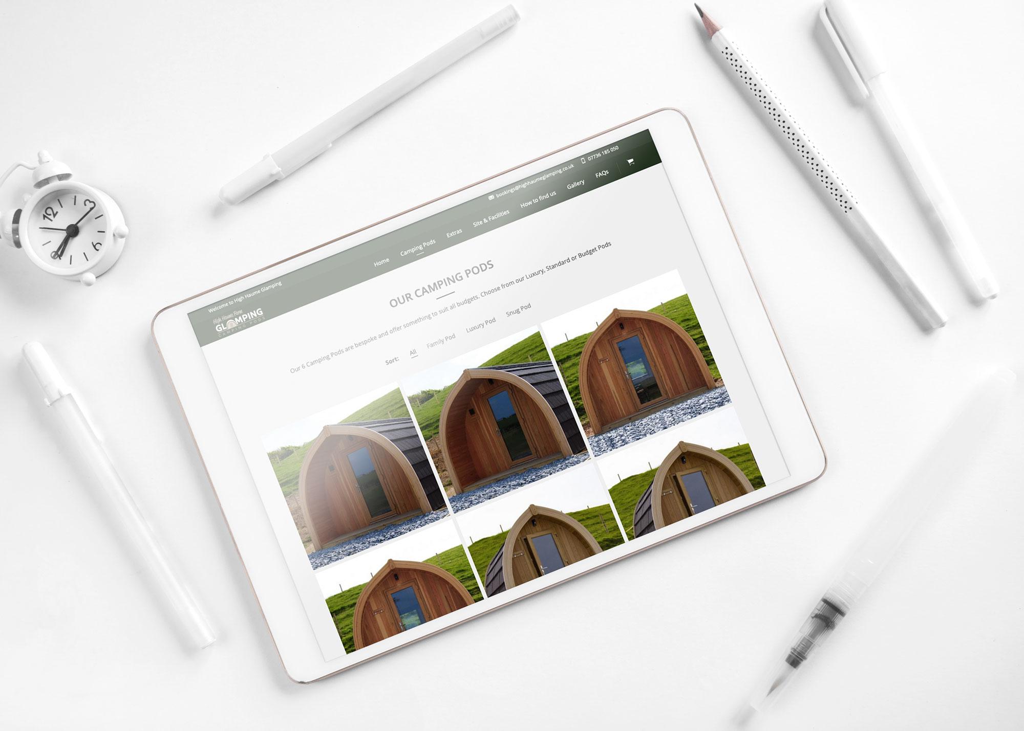 Glamping Web Design