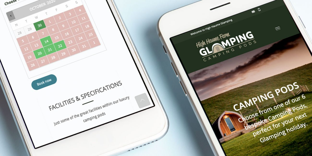 Glamping Web Design