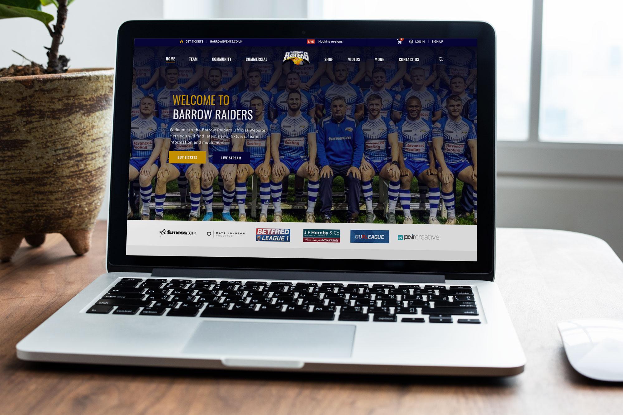 Barrow Raiders Sports Website