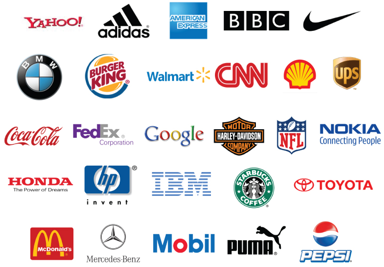 A selection of famous logos