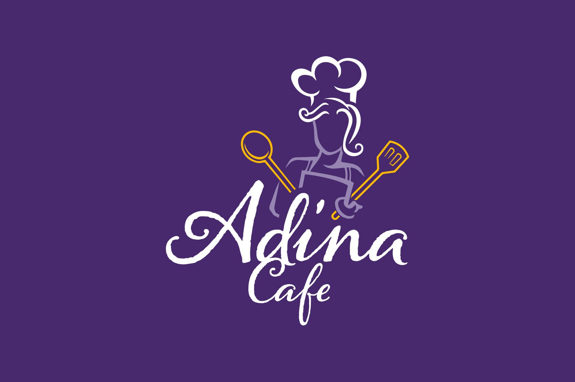 Adina Cafe Logo Design