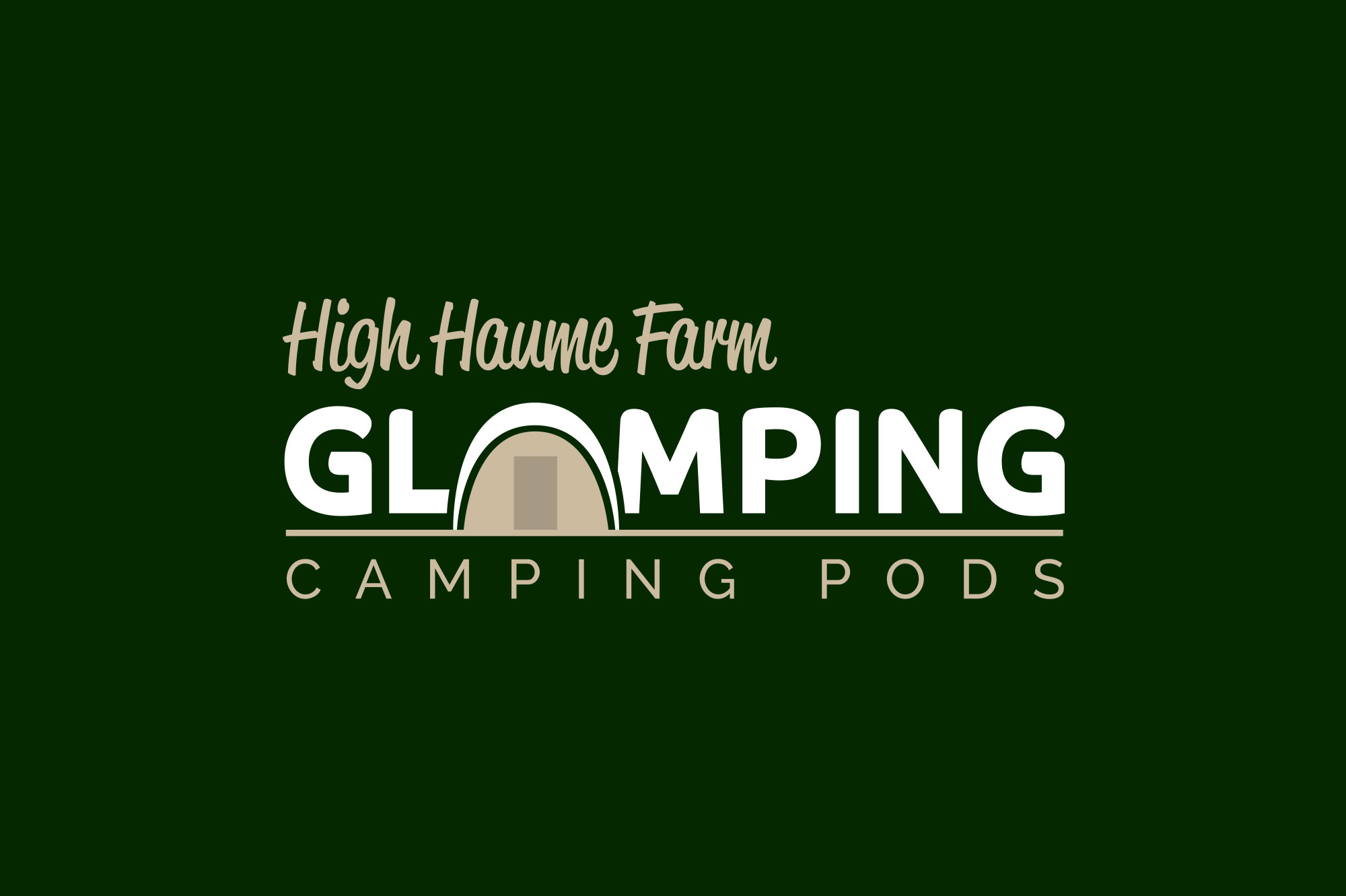 High Haume Glamping Logo Design